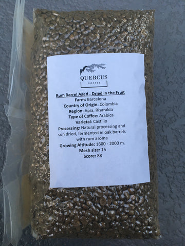 Unroasted Coffee 10 lbs - Rum Barrel Aged - Dried in Fruit