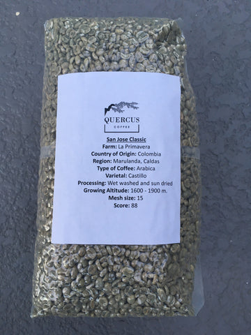 Unroasted Coffee 10 lbs - San Jose Classic