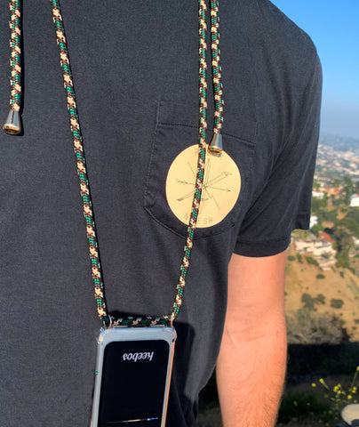 keebos abbot kinney iphone necklace holder