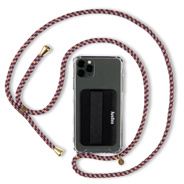 Crossbody Phone Case Necklace - Beach (Woven Red)