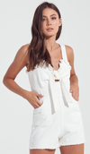 Summer's End Romper in White
