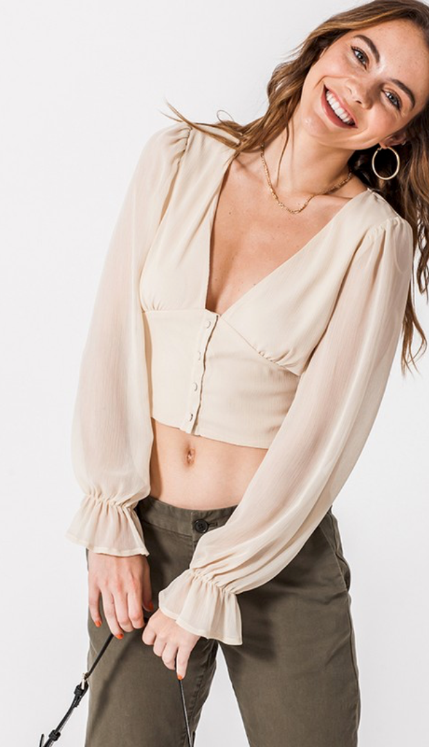 Fair Play Blouse in Ivory