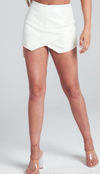 No Issues White Skort