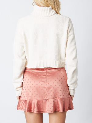On the Rise Mini Skirt in Mauve