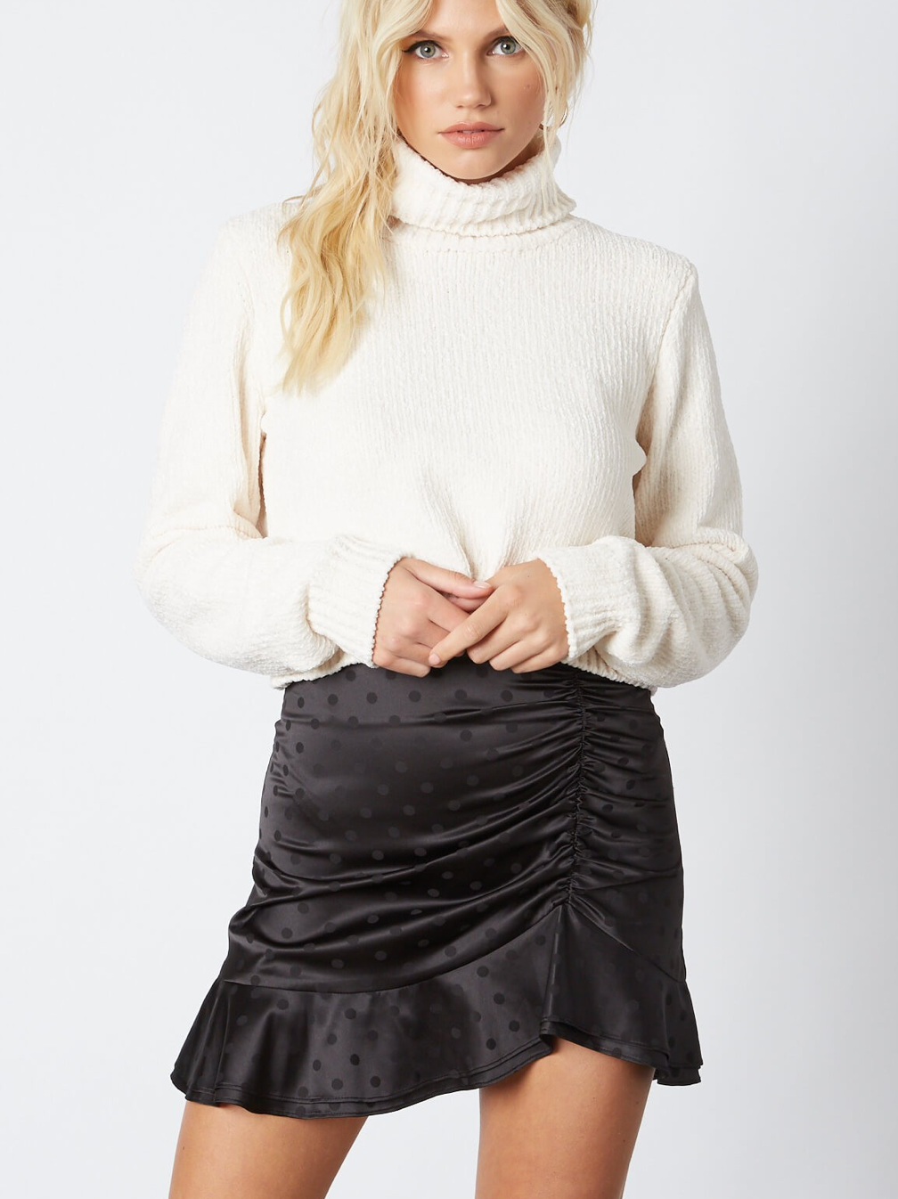 On the Rise Mini Skirt in Black