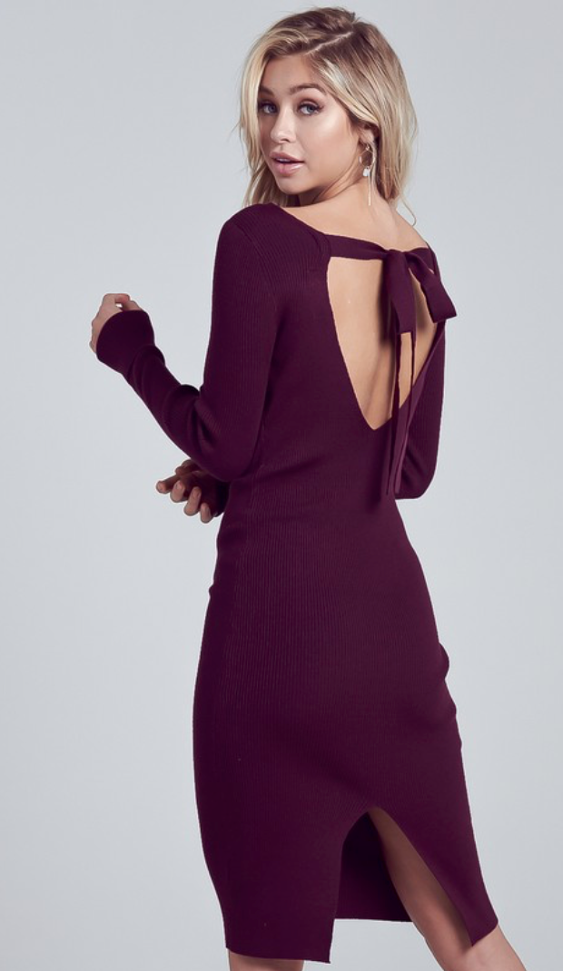 Wine Down Midi Dress