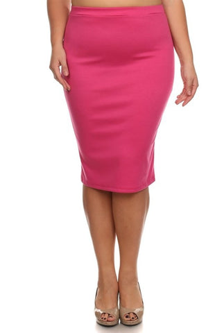Everyday Essential Skirt - Fuchsia