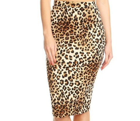 Everyday Pencil Skirt - Leopard