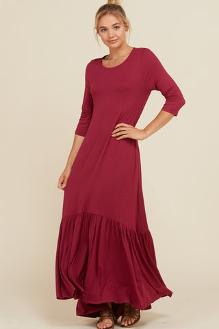 High Low Maxi - Berry (Small-3XL)