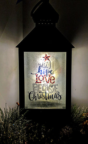 Merry Christmas LED Lantern