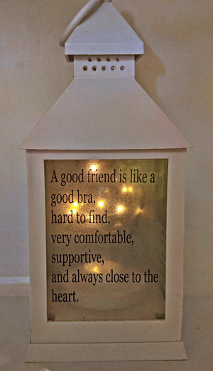 Funny Friendship Quote LED Lantern