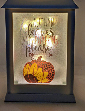 Sunflower and Pumpkin LED Lantern