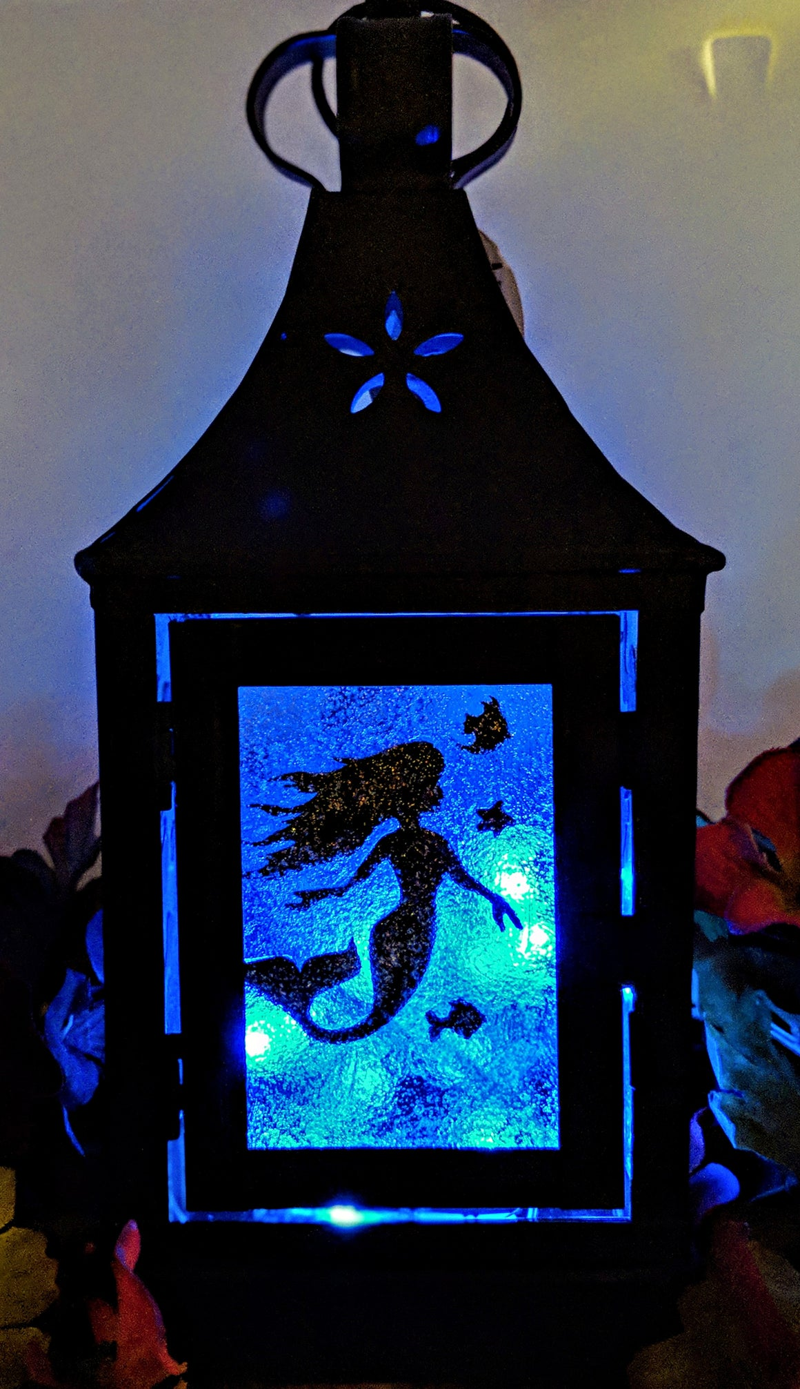 Metal LED Mermaid Lantern