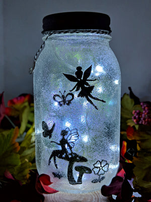 Fairy Butterfly Mason Jar
