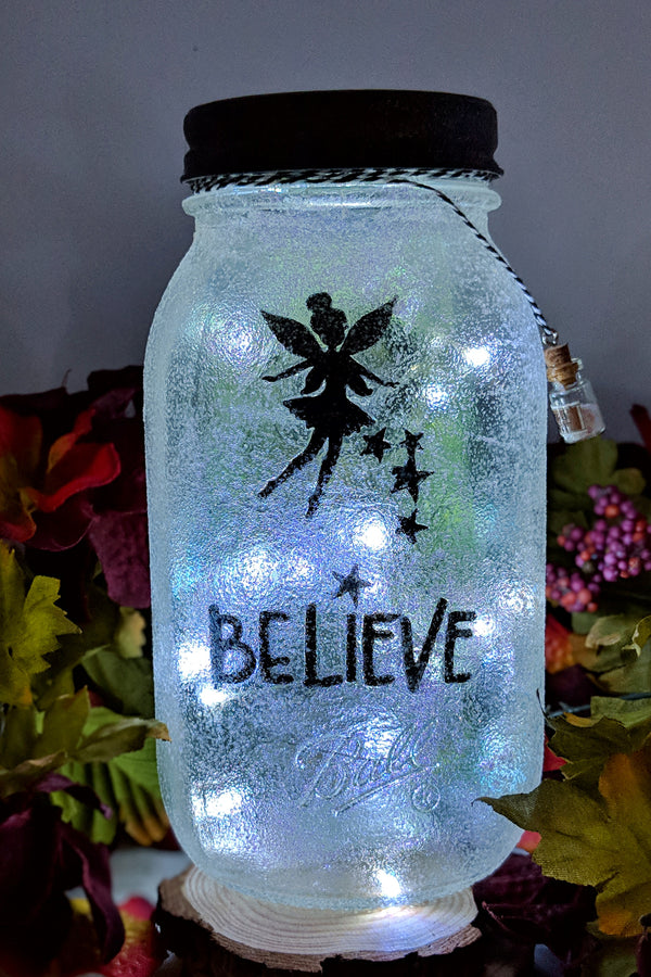 Fairy Love You To The Moon And Back Mason Jar Catch A Falling Jar