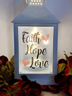 Love,Hope,Faith LED Lantern