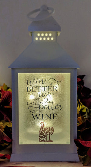 Live Love Wine LED Lantern
