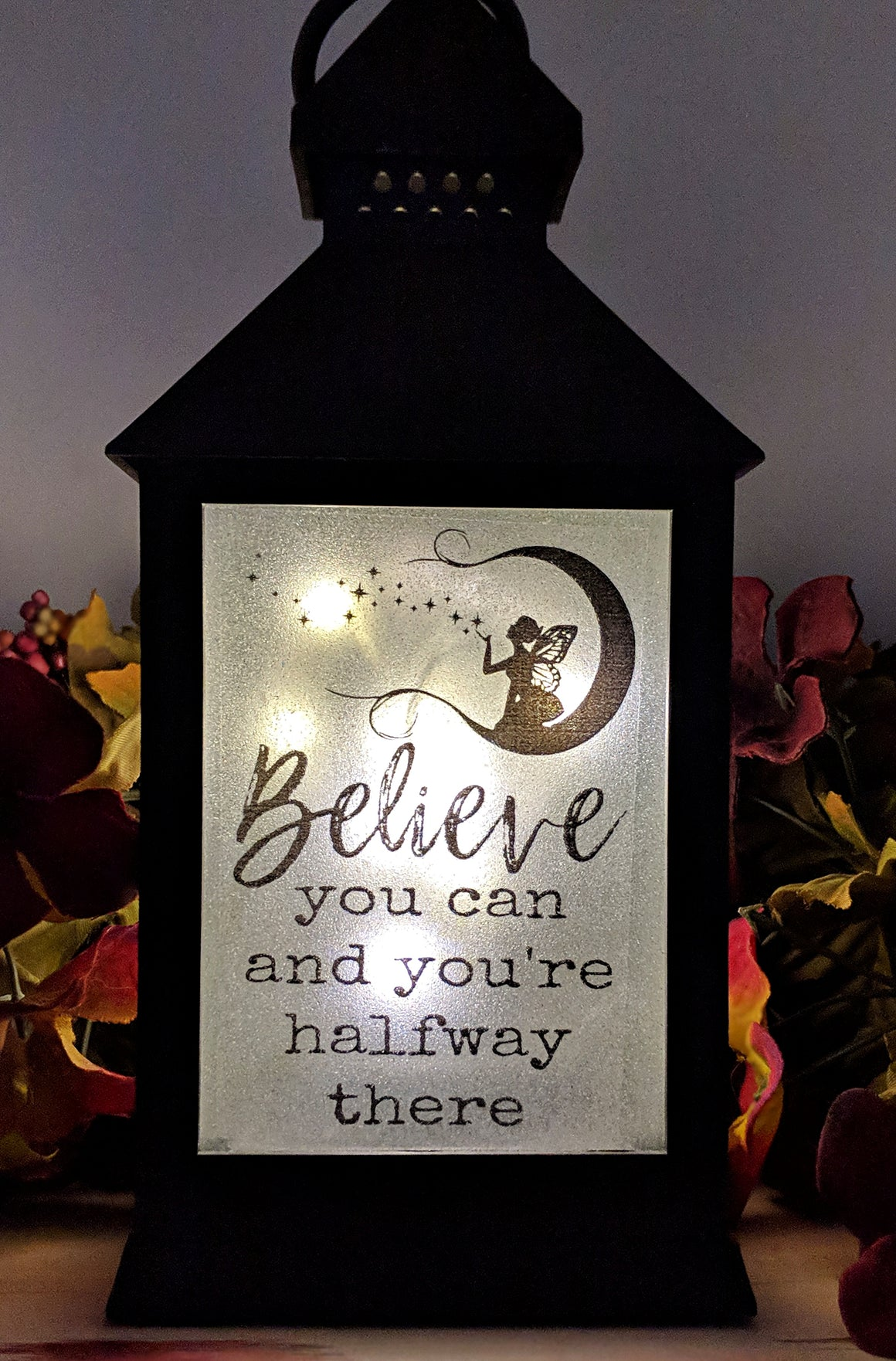 Fairy Inspirational Phrase LED Lantern