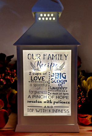 Family Themed LED Lantern