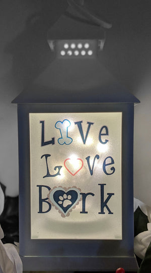 Live Love Bark Dog LED Lantern