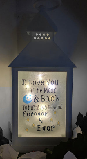 Love you to the moon and back LED lantern