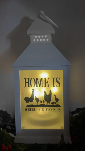 Chicken & Rooster LED Lantern