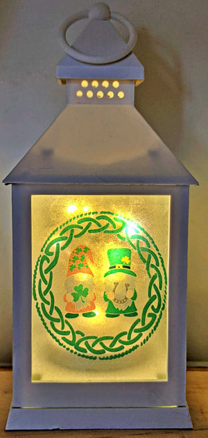 Irish Gnomes  LED Lantern