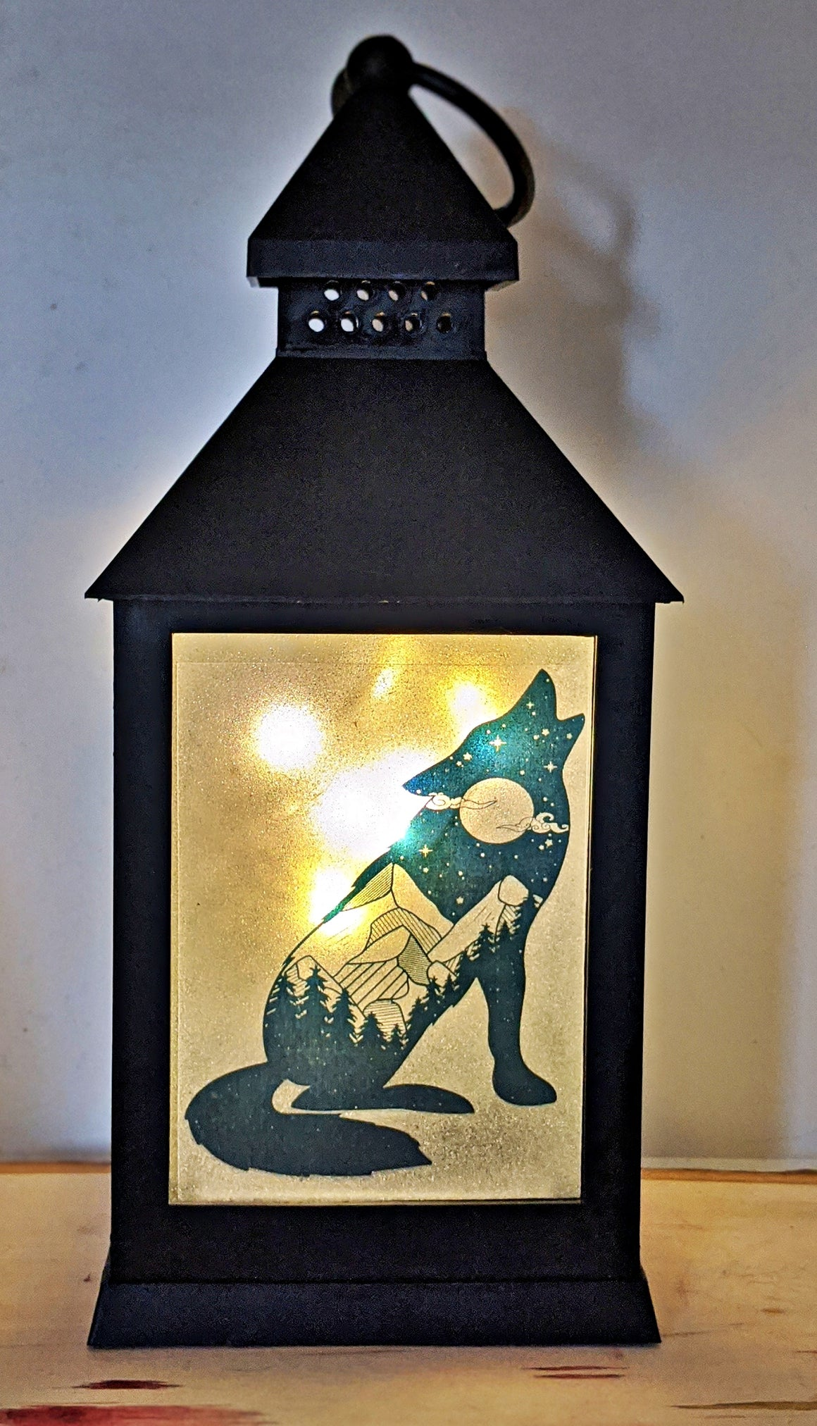 Tribal Animals LED Lantern