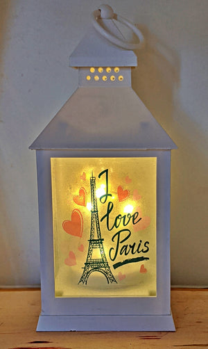 I Love Paris LED Lantern