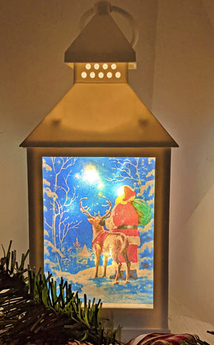 Holiday happiness LED Lantern