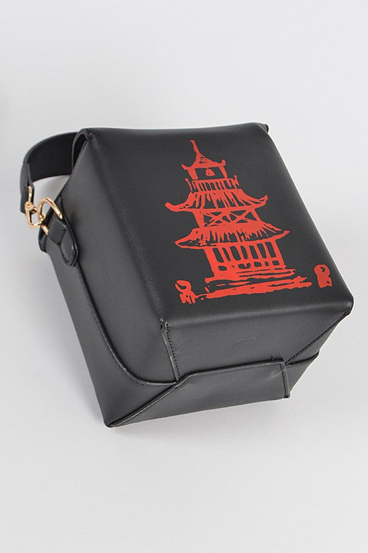 Black Chinese Take Out Purse - Mint Leafe Boutique