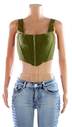 """Gucci Girl"" Corset Top - Mint Leafe Boutique"