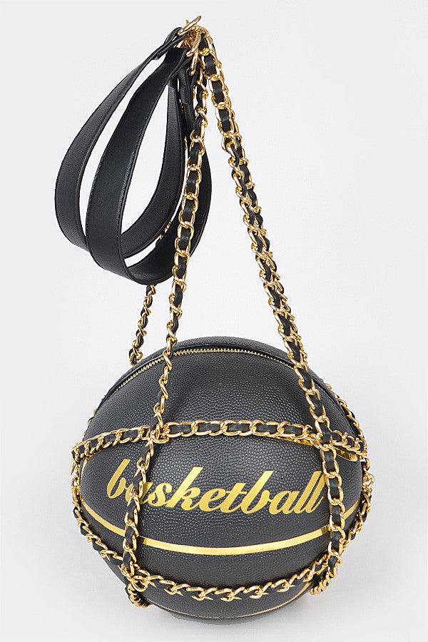 """Basketball"" Chain Crossbody - Mint Leafe Boutique"
