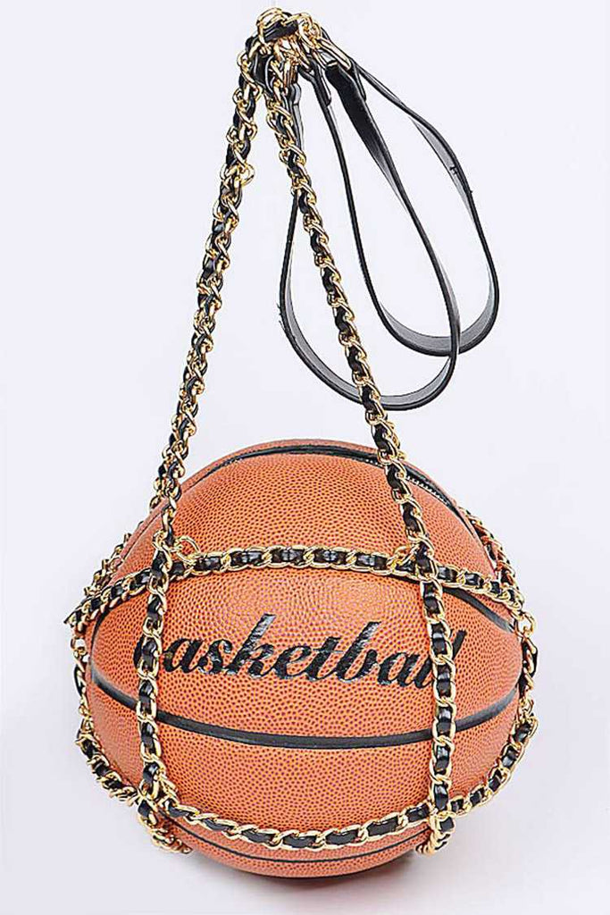 """4Love"" Basketball Purse - Mint Leafe Boutique"