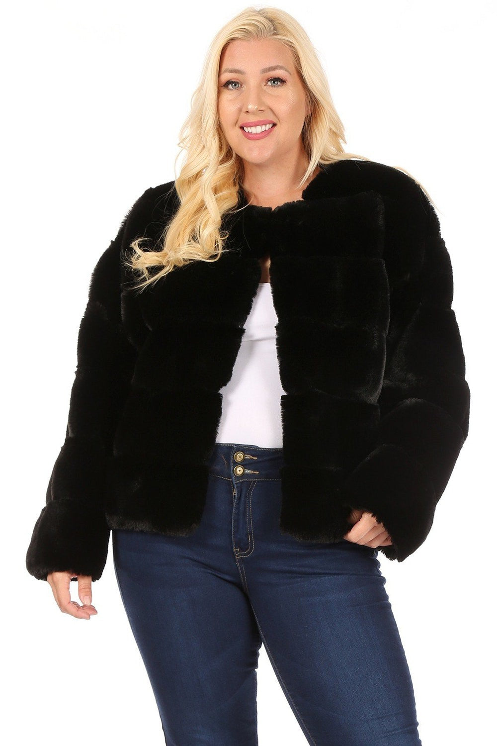Fine & Curvy  Faux Fur - Mint Leafe Boutique