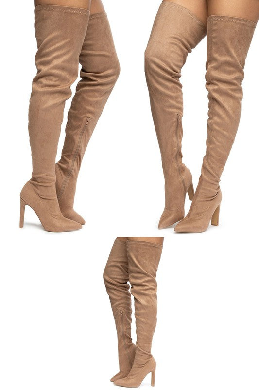 Jeanie High Thigh Boot - Mint Leafe Boutique