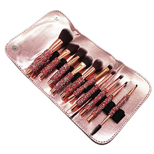 """ON POINT"" Luxury Makeup Brushes Set 10pcs with Bag - Mint Leafe Boutique"