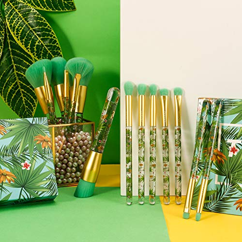 """Tropical Mix"" 14 Pieces  Professional Makeup Brush Set - Mint Leafe Boutique"