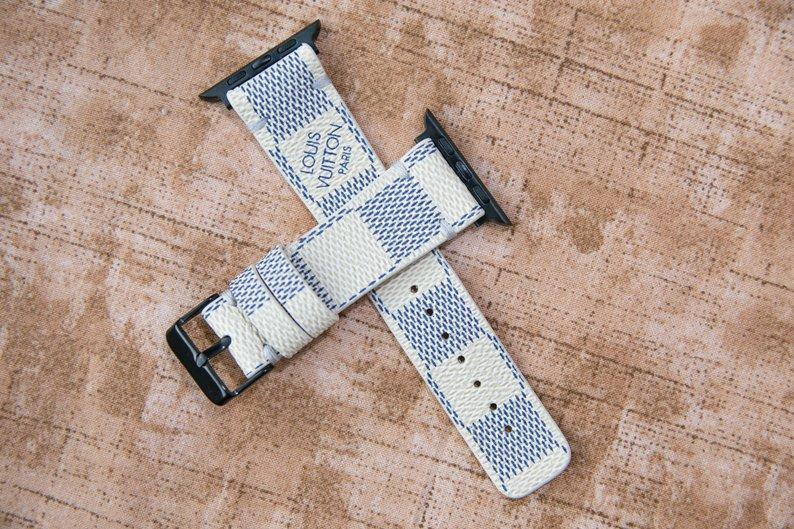 Apple Watch Band Classic LV Monogram Damier Azur - Mint Leafe Boutique