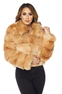 """IM ALL YOURS"" Fur Coat - Mint Leafe Boutique"