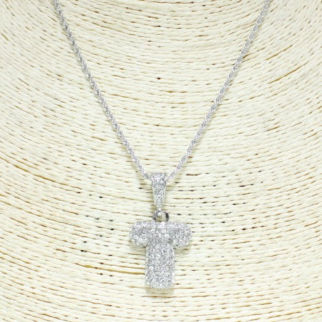 Rhinestone Letter Necklace