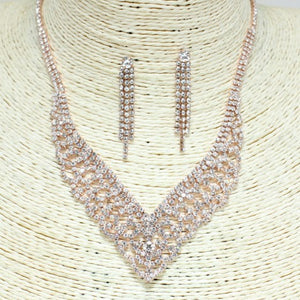 """Liah"" Princess Rhinestone Necklace - Mint Leafe Boutique"