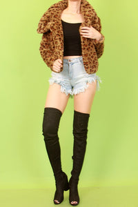 """Get Cozy, Get Wild"" Leopard Jacket - Mint Leafe Boutique"