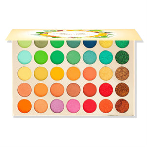Alice+Jane High Pigment Eyeshadow Palette With Glitter and Cream Citrus Oasis - Mint Leafe Boutique