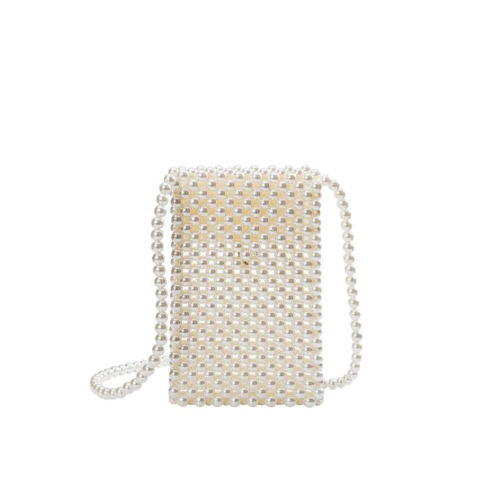 The Pearl Beaded Crossbody - Mint Leafe Boutique