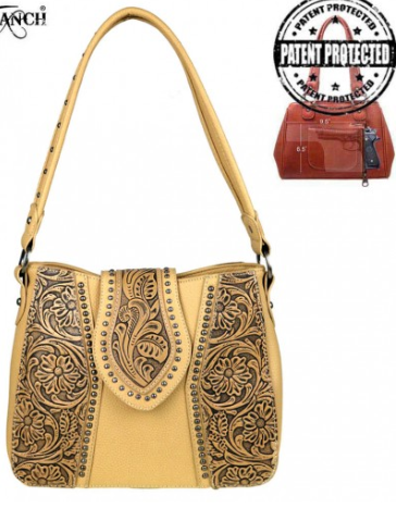 Trinity Ranch Tooled Leather Collection Concealed Handgun Hobo - Mint Leafe Boutique