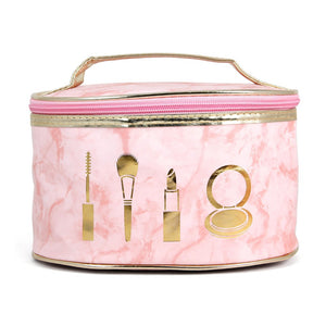 Pink Marble Cosmetic Travel Bag - Mint Leafe Boutique