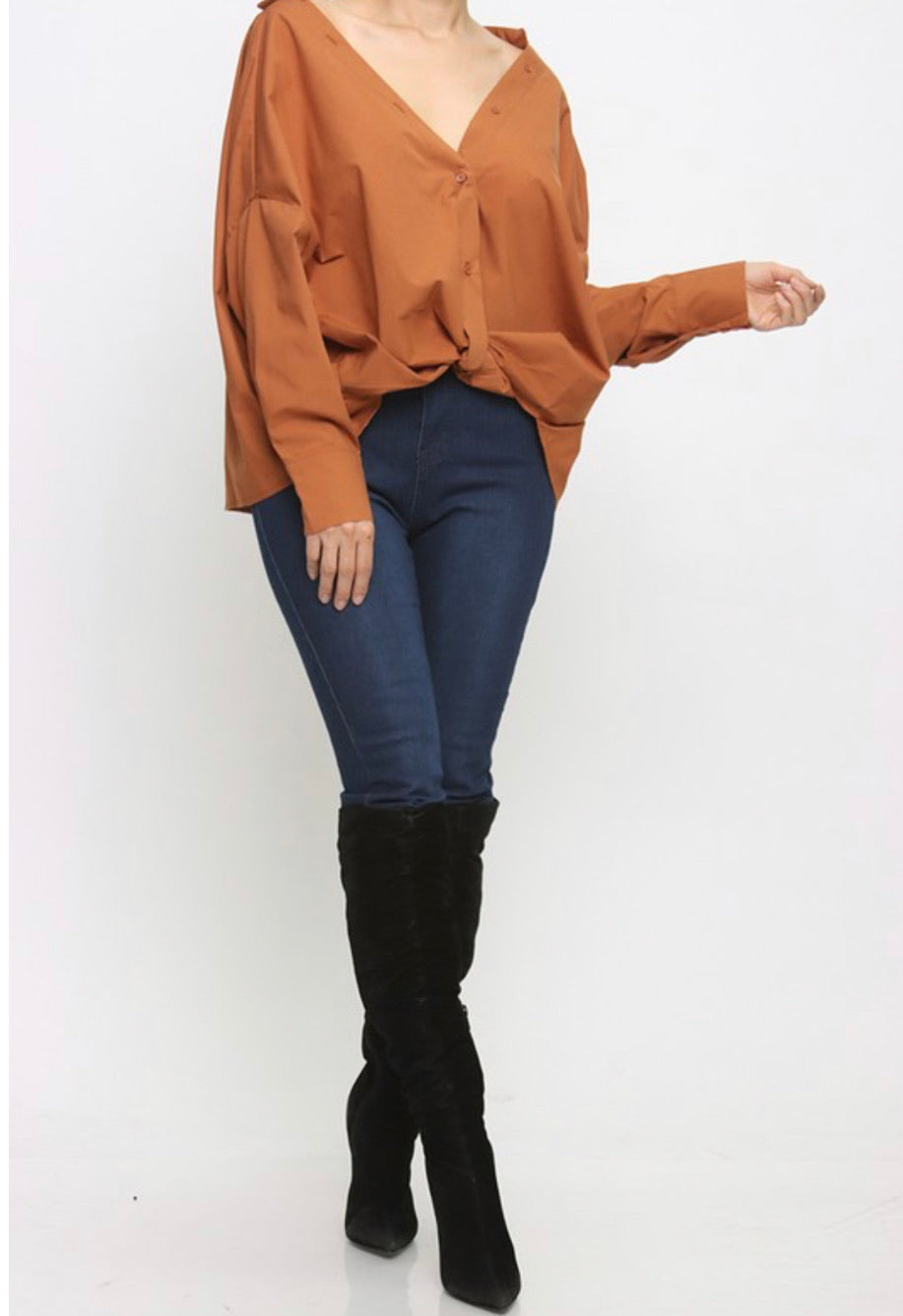 Camel Casual Blouse