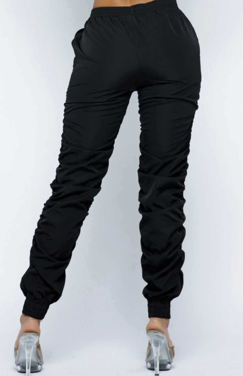 """Halle""Ruche  Jogger Pants - Mint Leafe Boutique"