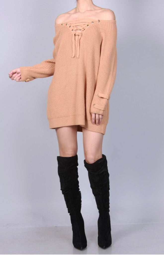 """Sweaters Essential"" Dress - Mint Leafe Boutique"
